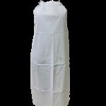 Avental napa branco grande cforro 120×70 cm no corpo