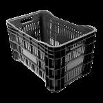 Caixa plastica mercado preta reciclavel Plasvale