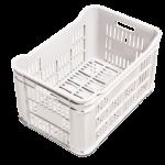 Caixa plastica p legumes e verduras branca Plasvale