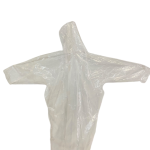 Capa de chuva transparente tamanho adulto