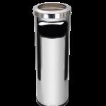 Cinzeiro e Lixeiro inox alto 24×70 cm C18A JSN
