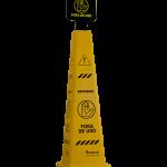 Cone e placa sinalizador 116cm Bralimpia (fora de uso)MVCONR