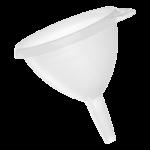 Funil plástico 12,8cm Sanremo 306
