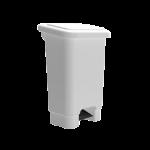 Lix. 100 lt pedal retangular sem rodas branco Bralimpia C10B