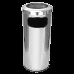 Lixeira de inox 50 lt com aro de inox 30×70 C34 JSN