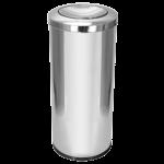 Lixeira de inox 50 lt com tampa meia esfera 30×70 C19 JSN