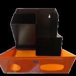 Lixeira esmaltada p descarte pilha e bateria 30x32x14 M5 JSN interior